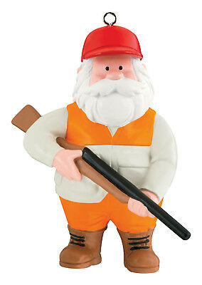 Carlton Heirloom Ornament 2017 Outdoorsman - Hunting Santa Claus - #CXOR067M