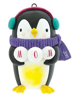 Carlton Heirloom Ornament 2017 Mom - Penguin with Scarf - #CXOR013M