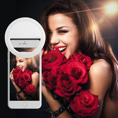 Pretty Selfie 36 LED Ring Flash Fill Light Clip Camera For Phone iPhone Samsung