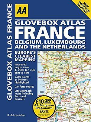 AA Glovebox Atlas France (AA Road Atlas) by AA Publishing | Spiral-bound Book |