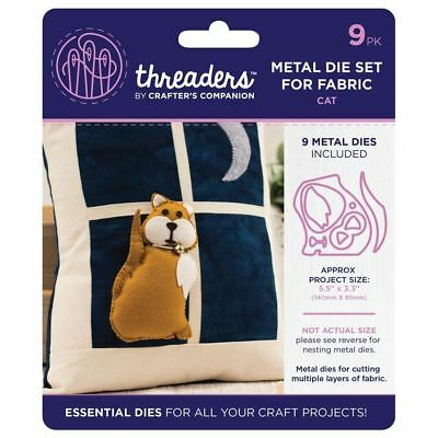 Threaders - Mixed Media Metal Card + Fabric Die Set - Cat By Window