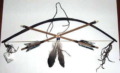 Little Scout Native American Bow & Arrows Wall display w/ Rabbit totem LS08