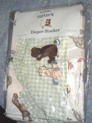 Just One Year Multi Color Diaper Stacker Ball Block Bear Print Green Gingham