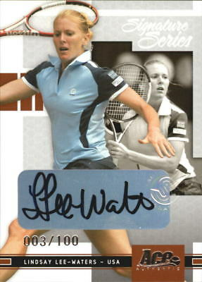 2005 Ace Authentic Signature Series Autograph #32 Lindsay Lee-Waters /100