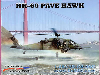 2000s HH-60 Pave Hawk Helicopter Air National Guard Official Original Print
