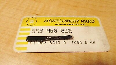 Vintage 1960'S Montgomery Ward Credit Card National Charg All Card Depart. Store