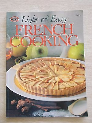 Light & Easy French Cooking~Recipes~Cookbook~80pp P/B