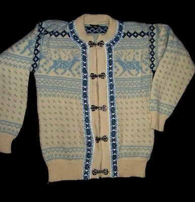 "~ ""DALE OF NORWAY"" Pretty Blue/White Sweater ~ Size 12  ~"