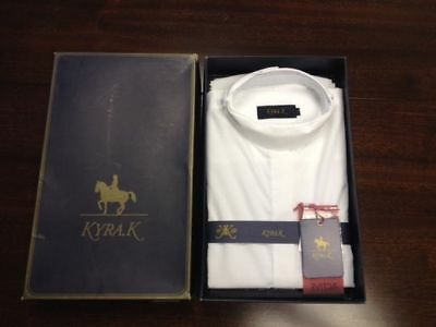 SALE KYRA.K LADIES RIDING COMPETITION SHIRT WHITE SLEEVELESS equestrian rider