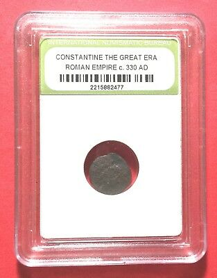 330 A.D. Constantine the Great Roman Empire Ancient Coin