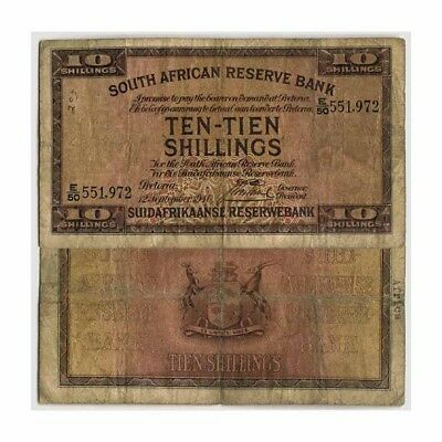 South Africa South African Reserve Bank -Ten-Tien Shillings Pick 82d 1940 Very G