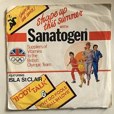 "Shape Up This Summer with Sanatogen Featuring Isla St Clair UK 1982 7"" PS"