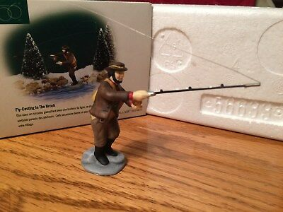 Dept 56 - New England Village - Fly-Casting In The Brook