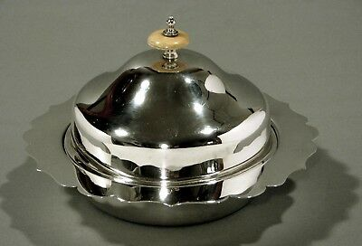 English Sterling Butter Dish      Walker & Hall     18 Oz.