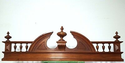 Hand Carved Wood Pediment Huge Solid Antique French Architectural Salvage Crest