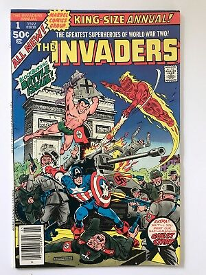 The Invaders King-Size Annual #1 - 1977 VF Marvel American Comics