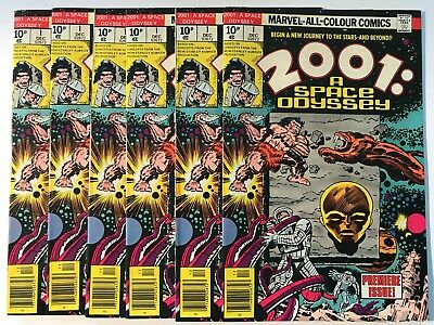 6 x Issues N/MINT of 2001 A Space Odyssey HIGH GRADE 1976 Comics Marvel