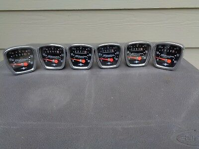 Schwinn Bicycle Vintage Speedometers - Lot of { 6 }  1960's / 1970's