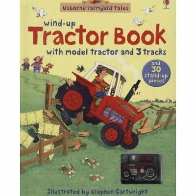 Farmyard Tales Wind-up Tractor Book (Farmyard Tales) - Hardcover NEW Cartwright,