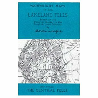 Wainwright Maps of the Lakeland Fells: The Central Fell - Map NEW Wainwright, A.