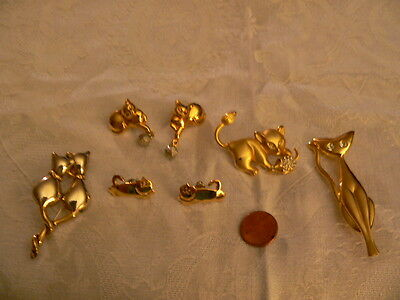 Collection Unique Cat Jewelry-Brooches, ERs-Pendant-All Perfect, Fun, Mint Cond.