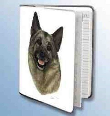 Retired NORWEGIAN ELKHOUND Softcover Address Book art by Robert May