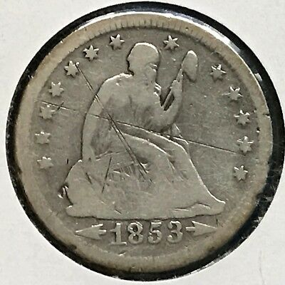 1853-O 25C Arrows and Rays Liberty Seated Quarter [Auto Comb. Shipping](30916)