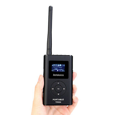 Portable 0.6W FM Transmitter MP3 Broadcast Radio Transmitter for Car Meeting Top