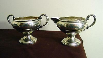 1940s-1950s Mueck Carey Sterling Silver Footed Cream & Sugar