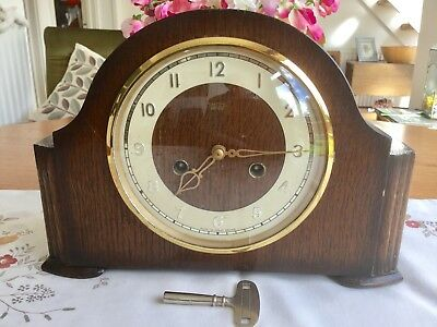 Smiths 'harcourt' Striking Mantel Clock - Working With Key