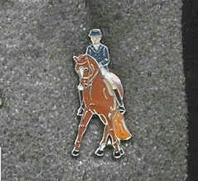 Collectible Pin HORSE DRESSAGE Chestnut Hat Pin/Tietac