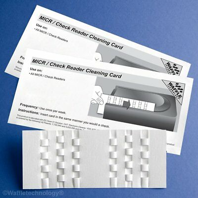 Kic Team-Waffletechnology MICR / Check Reader Cleaning Card, 15/Box