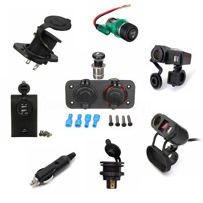 12V Car Cigarette Lighter Socket Plug Charger Connector Converter LED with Fuse