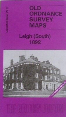 Old Ordnance Survey Maps Leigh South  Lancashire 1892 S102.07  New Coloured Edt