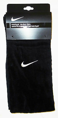 Nike Trifold Cotton Towel Black Brand New