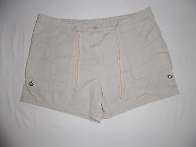 Womens Oh Baby! By Motherhood Maternity Khaki Color Shorts Size Large
