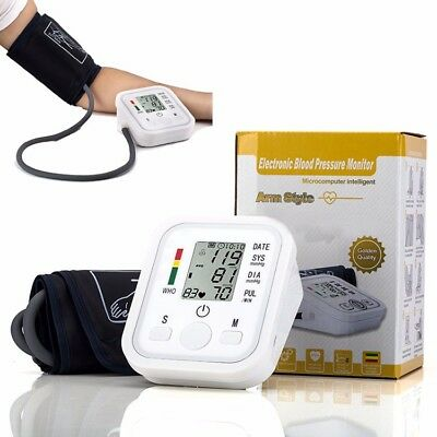 Digital electronic upper arm blood pressure monitor LCD with extra large cuff