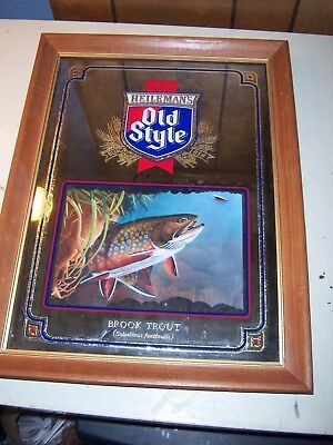 Old Style Beer Mirror Brook Trout
