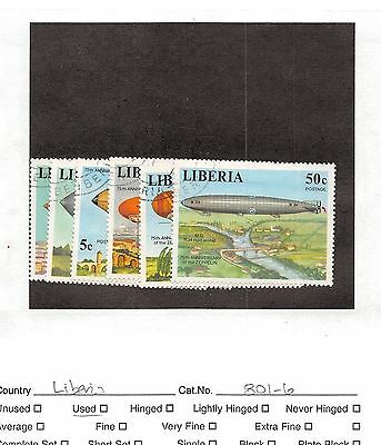 Lot of 104 Liberia Used Stamps #104257 X