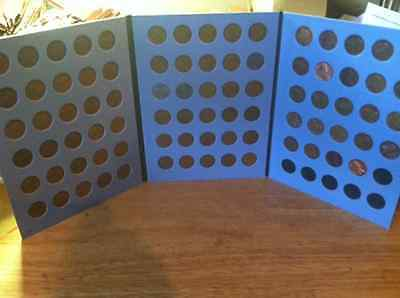 1909 - 1958 Lincoln Cent Set; Wheatback.; PDS; Circ. In Coin Folders!! No 22D.