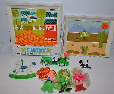 lot of FLATSY vintage Dolls & Frames IDEAL 1968