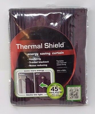 "Maytex Toronto Thermal Shield Lined Energy Window Panel 54"" X 84"" New"