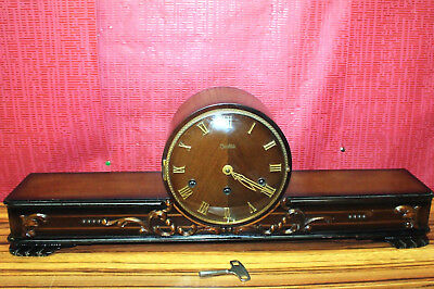 * Antique Table Clock Westminster* Mantel Clock Chime Clock *ZENTRA* handcarved