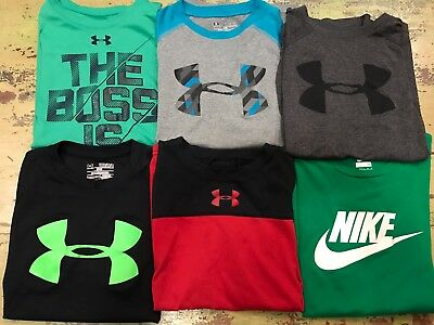 Boys YMD M Medium Under Armour Nike Shirt Lot Of 6