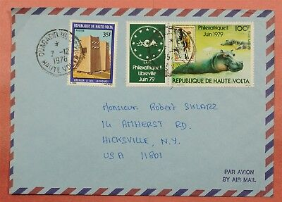 1978 Burkina Faso Multi Franked Airmail Cover To Usa