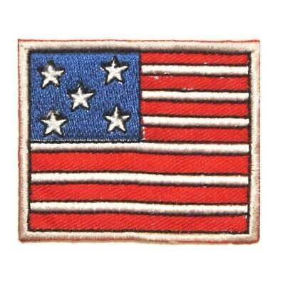 57acccee827 ID 1049 Cartoon American Flag Patch Patriotic Craft Embroidered Iron On  Applique