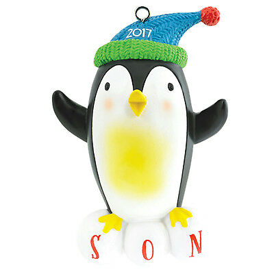 Carlton Heirloom Ornament 2017 Son - Penguin in Knitted Cap - #CXOR015M