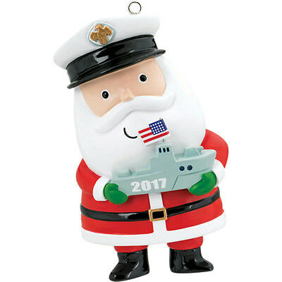 Carlton Heirloom Ornament 2017 Proud to Serve - U.S. Navy Santa - #CXOR065M