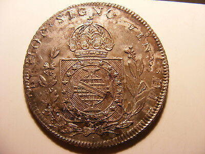 Brazil 960 Reis, 1825, Small 960, KM#368.1, Not sure on Host Coin, XF