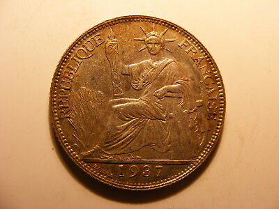 French Indo-China 20 Cents, 1937, Uncirculated